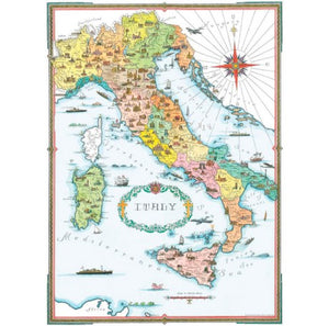 New Italia Map Gift Wrap