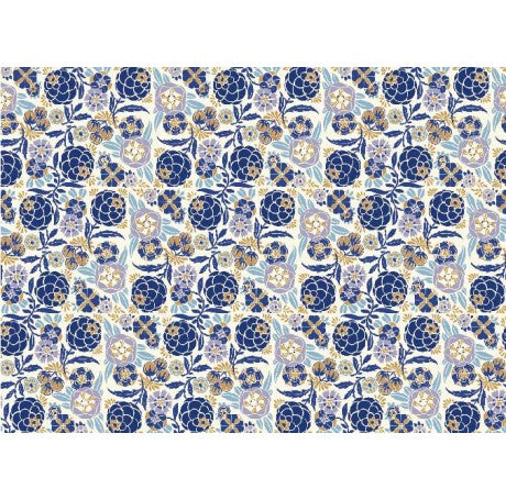 Liberty Blue Flowers Gift Wrap