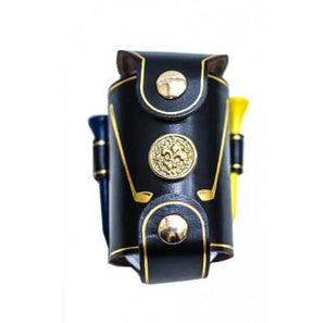 leather golf ball holder black