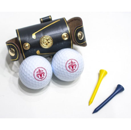 LEATHER GOLF BALL HOLDER - BLACK