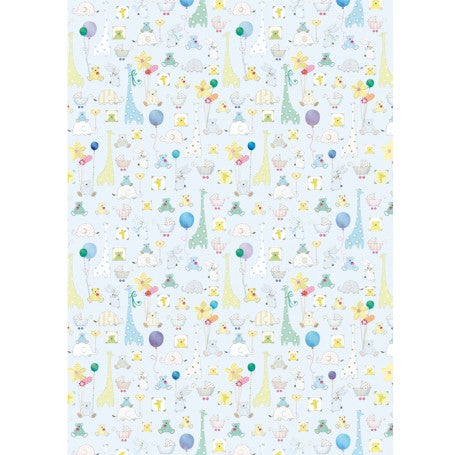 New Baby Blue Gift Wrap