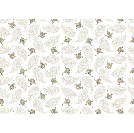 Leaves Cream Gift Wrap
