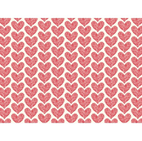 Red Hearts Gift Wrap
