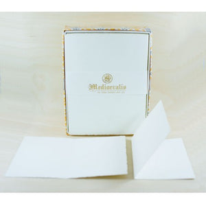 208L Medioevalis Deckled Edge Cream Folded Cards