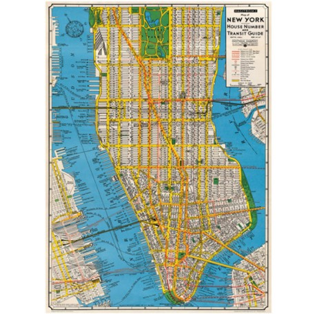 New York Map Gift Wrap