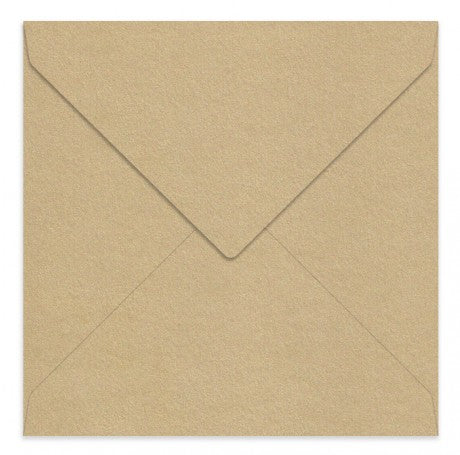 Curious Metallic Gold Leaf 160 Square Envelopes