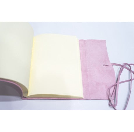 AMALFI LEATHER JOURNAL REFILLABLE LARGE - PINK