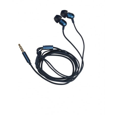 EARPHONE WITH MICROPHONE - BLUE