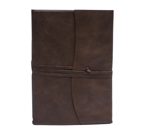 Amalfi Refillable Leather Journal Medium - Chocolate