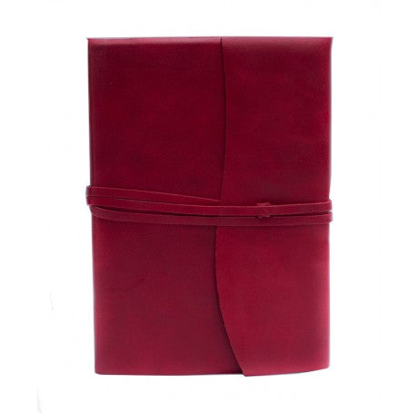 Amalfi Refillable Leather Journal Medium - Red