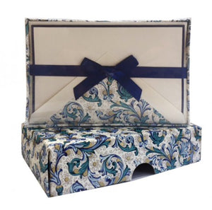 Florentine Navy Folded Cards Stationary Set