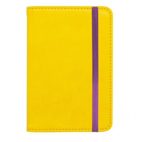 YELLOW/PURPLE PASSPORT HOLDER - LEGAMI