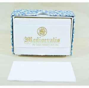 209S SINGLE DECKLED EDGE CARD  - MEDIOEVALIS WHITE