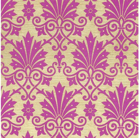 Damask Pink Flower Gift Wrap