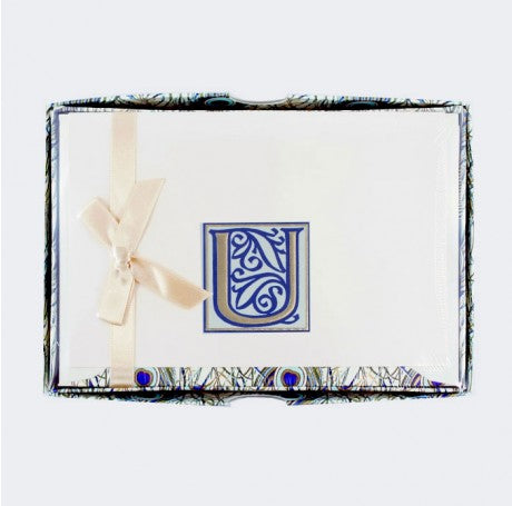 Initial Monogram Boxed Stationary Set - U