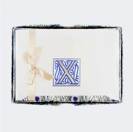 Initial Monogram Boxed Stationary Set - X