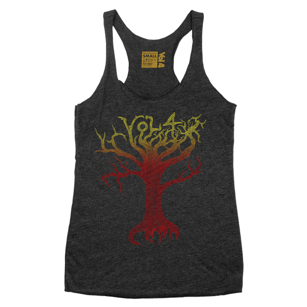 Tree Four Five Charcoal Womens Tank
