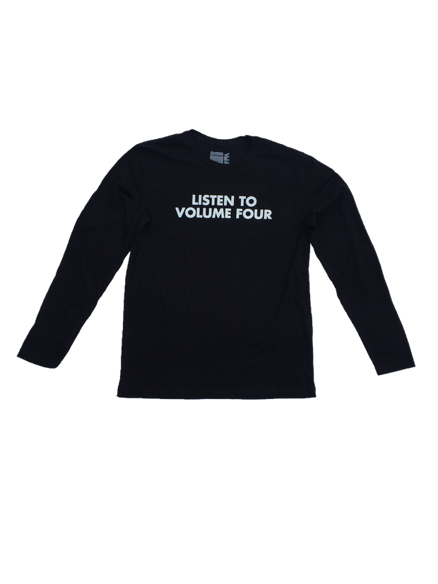 VOL4 LISTEN TO VOLUME 4 L/S BLACK