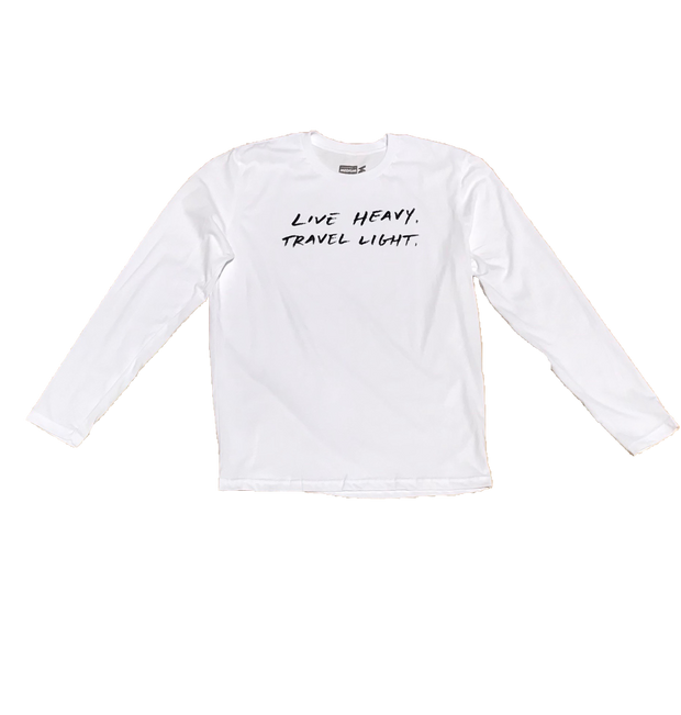 VOL4 LIVE HEAVY TRAVEL LIGHT L/S WHITE
