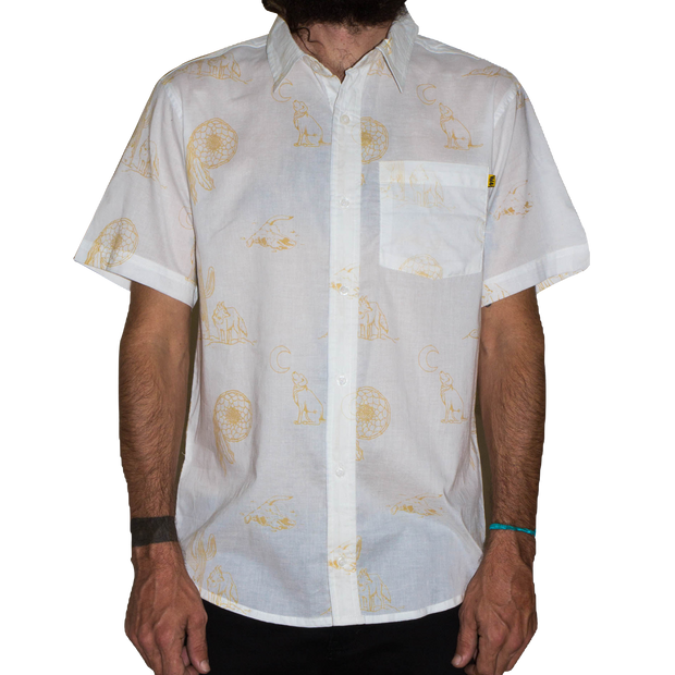 Desert Button Up Wht/Gld