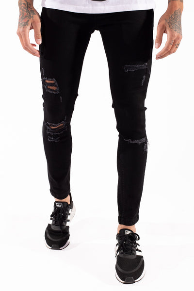 11 DEGREES ESSENTIAL SUPER STRETCH DISTRESSEDJEAN SKINNY 11D035 021