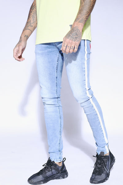 11 DEGREES SIDE PRINT STRIPE JEANS SKINNY 11D314 052 (220)