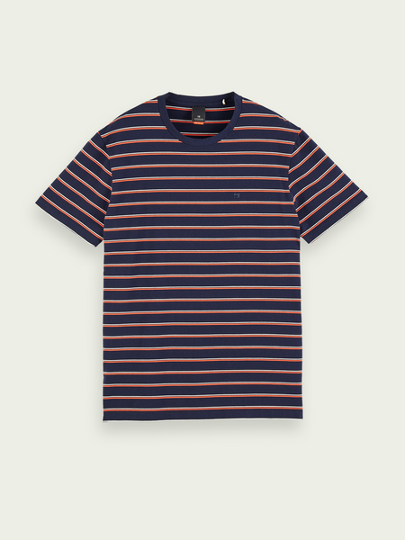 SCOTCH & SODA COTTON STRIPE TEE 51-158514 0222 (220)
