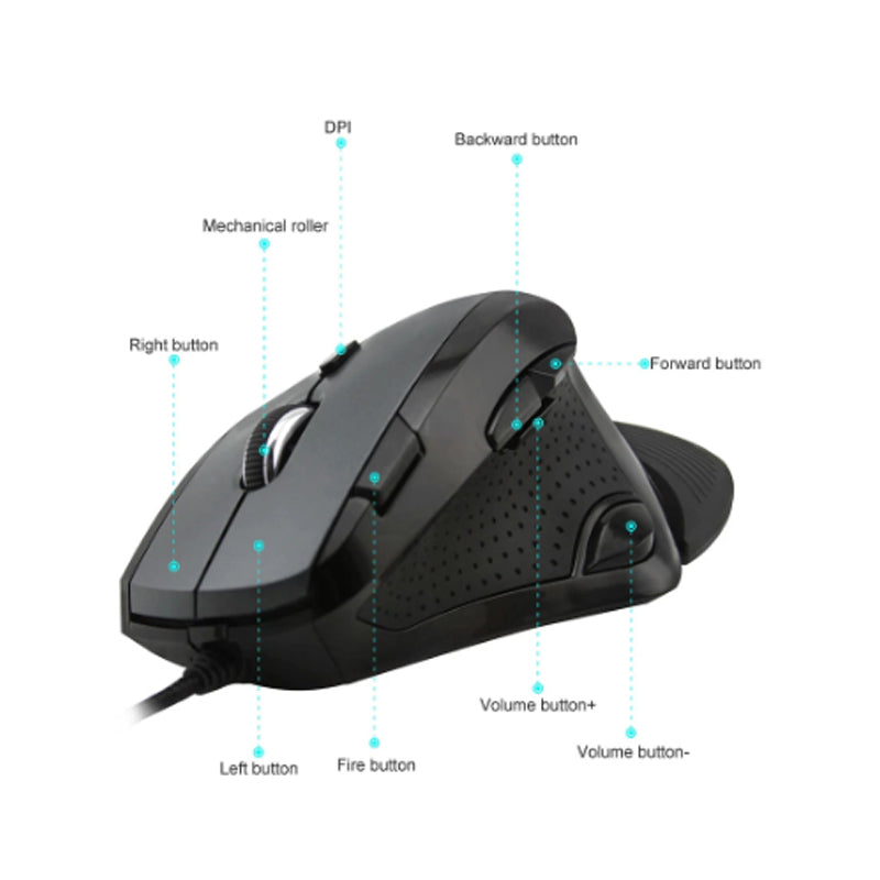 Mouse Optico Usb Delux M910 4000dpi 9 Botones