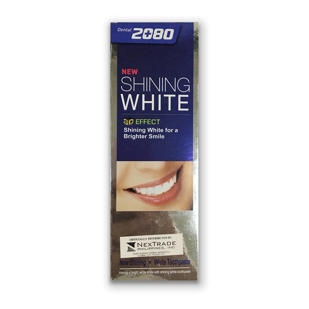 2080 DENTAL CLINIC TOOTHPASTE- SHINING WHITE 100G (PER PIECE)