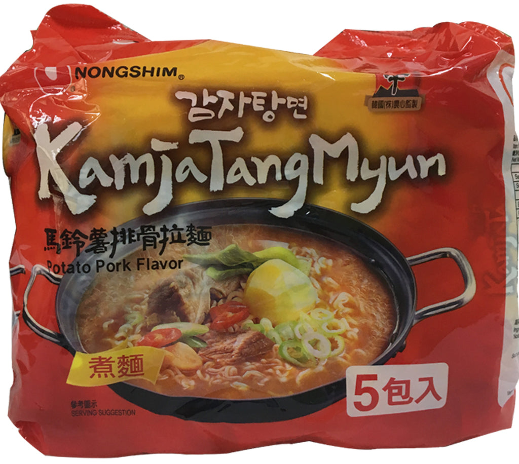 KAMJATANGMYUN MILD SPICY POTATO RAMYUN MULTIPACK (C)  (8 PACKS/CASE)
