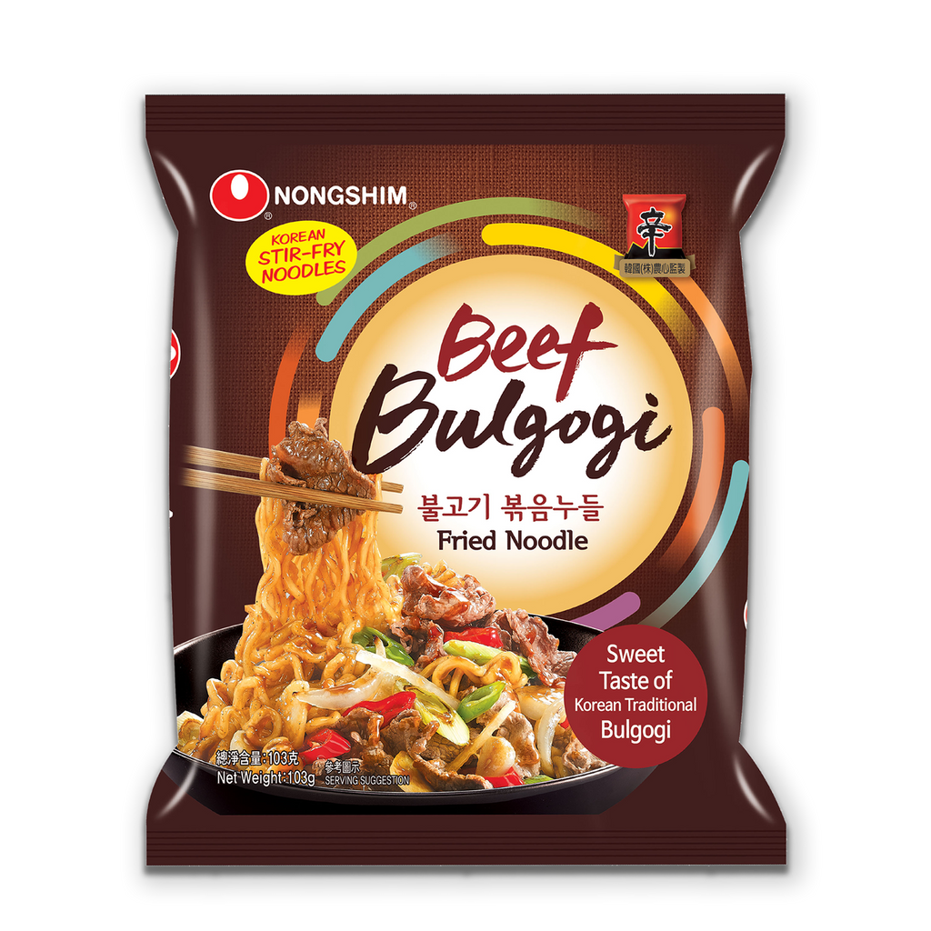 BEEF BULGOGI FRIED NOODLE POUCH 103G/30