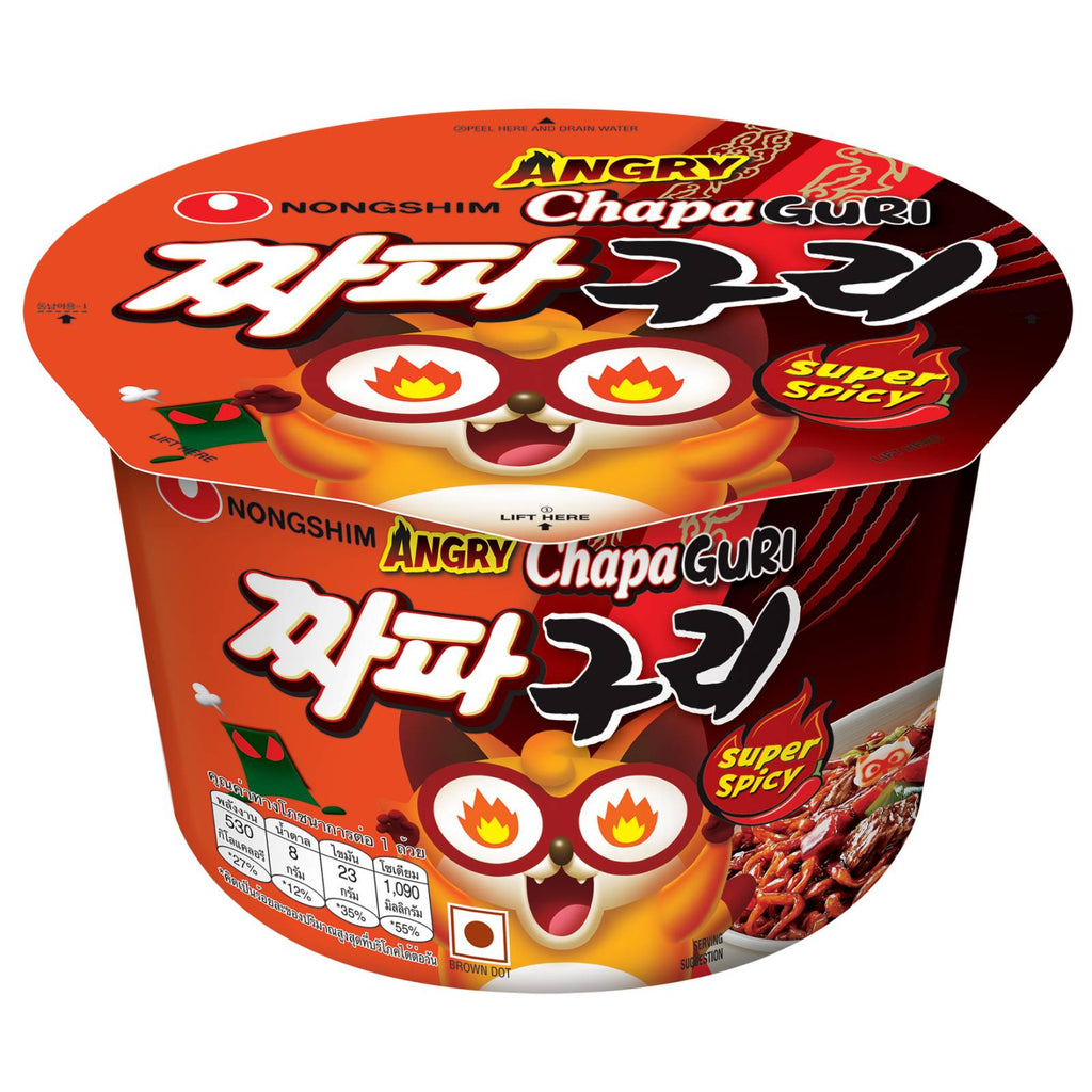 CHAPAGURI RAMYUN BIG BOWL SPICY (ANGRY) 114G/16