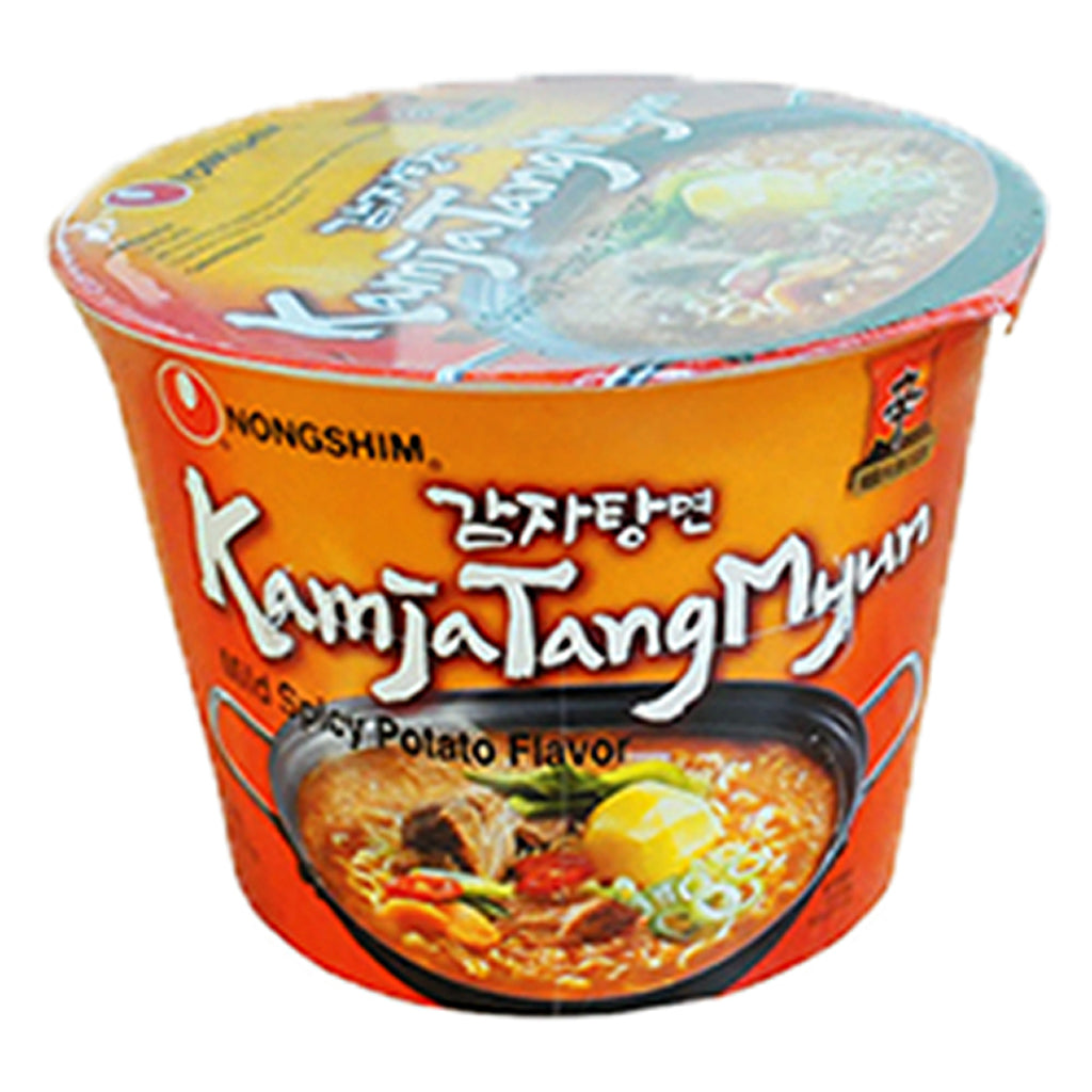 KAMJATANGMYUN MILD SPICY POTATO BIG BOWL NOODLES (C) 117G  (16 PCS/CASE)