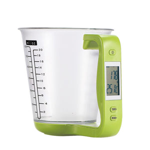 Electronic Measuring Cup Kitchen Scales and Digital Beaker Combo
