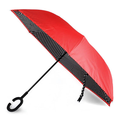 Polka Dot  Double Layer Inverted Umbrella