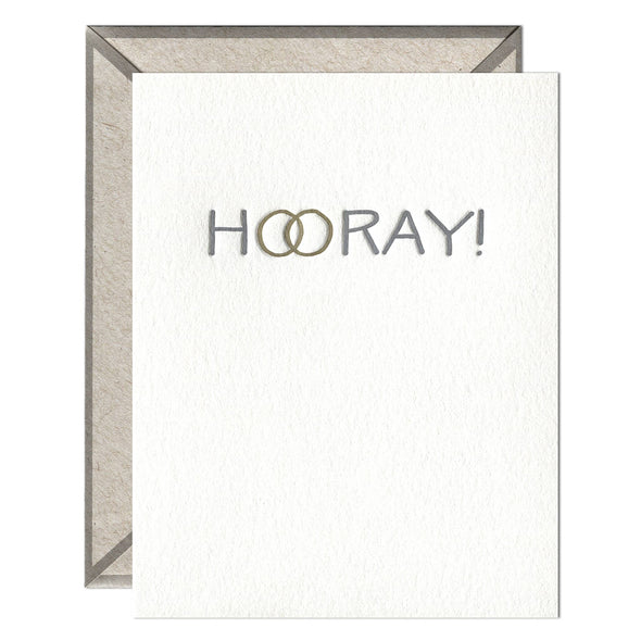 Hooray Rings - greeting card