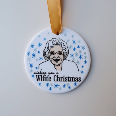 Betty White Holiday Ornament