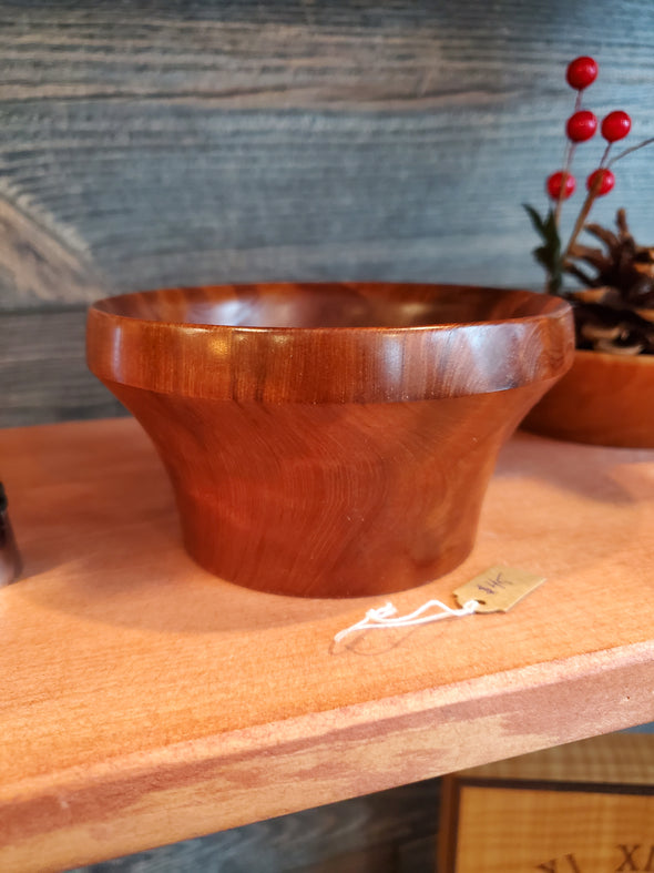 Curly California Redwood Bowl