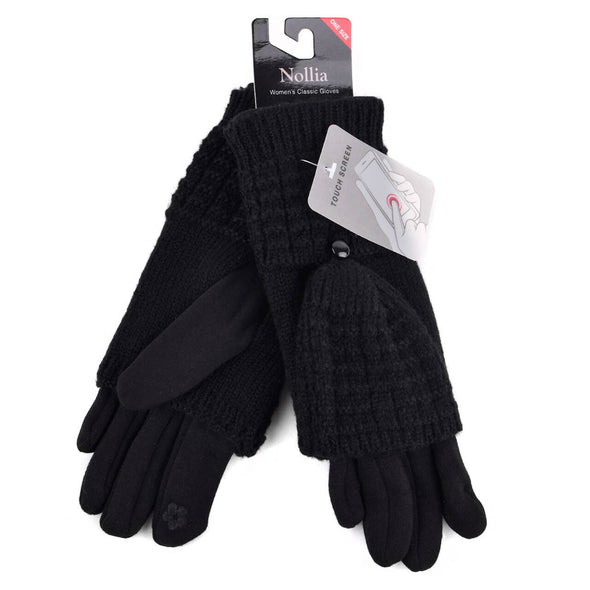 Women's Cable Knit Touch Screen Winter Gloves