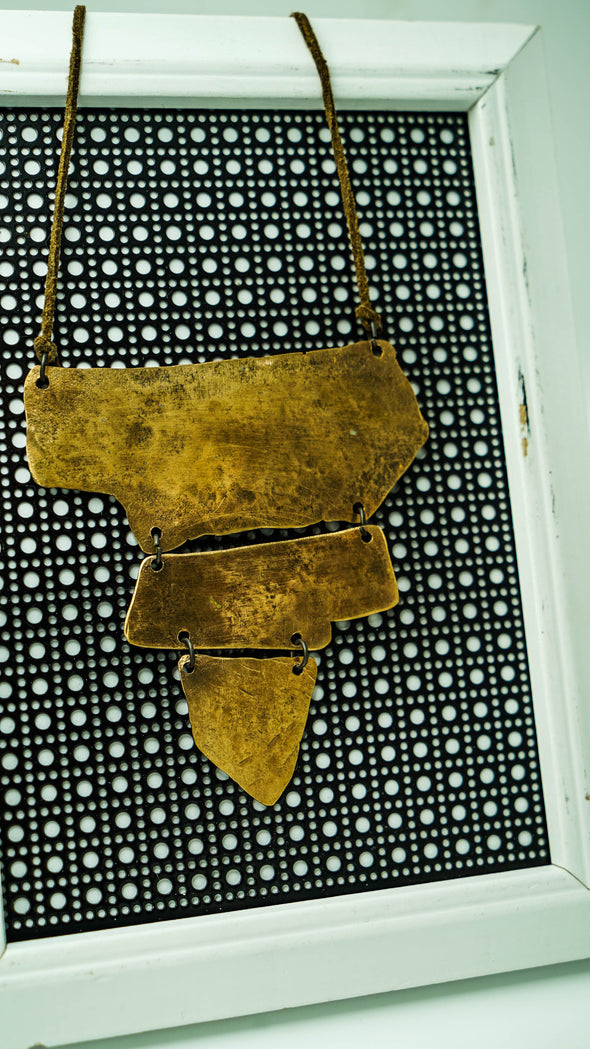 Bronze State Necklace Drumhead Jewelry