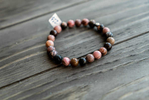 Breathe By Josie -  Rhodonite Stone Diffuser Bracelet