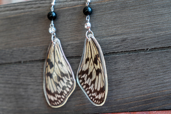 Christiana Treasures Hand-Made Real Butterfly Wing Resin Earrings