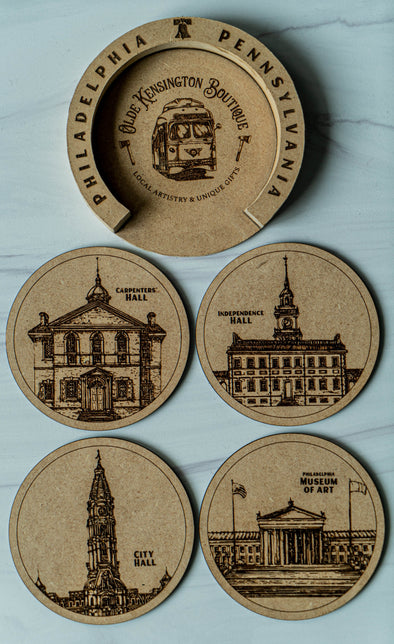 Philadelphia Landmark Coaster Set