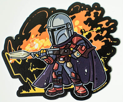 Mando Amban Sniper Rifle Blast Sticker