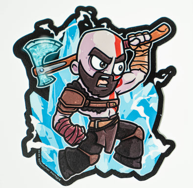 Kratos Leviathan Axe Character Sticker
