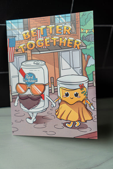 Better Together City Wide Shot & Pabst Greeting Card