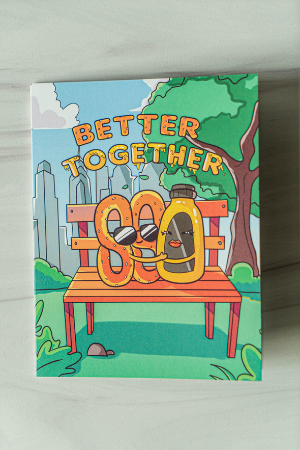 Better Together Pretzel & Mustard Greeting Card