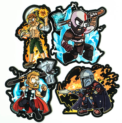 Axe Legendary Heroes Sticker 4 Pack