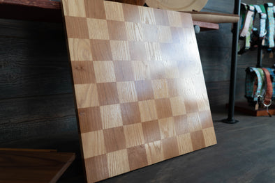 Cherry and Red Oak Checkerboard