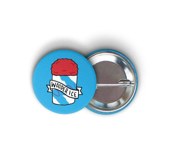 Wooder Ice Round Pin-back Button